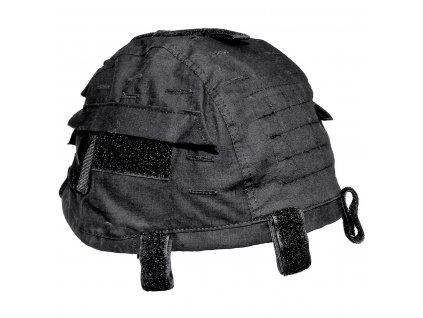 Potah (povlak,obal,převlek) na helmu černý s kapsami a velcrem 10501A
