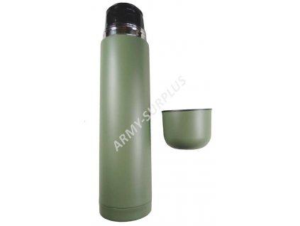 Termoska oliv 33249 nerez vakuová 500ml