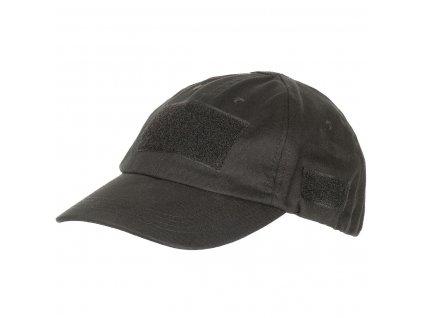 Čepice (kšiltovka) Baseball s velcro panely černá MFH