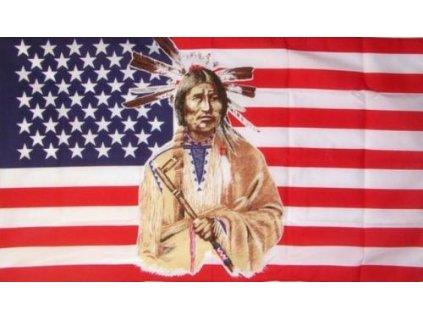 Vlajka USA Indian 90x150cm č.82