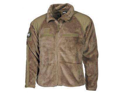 Mikina (bunda) US Jacket fleece generace III / level 3. MFH coyote