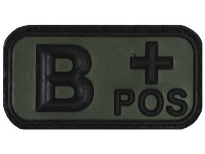 Označení krevní skupiny B+ positive 3D PVC oliv