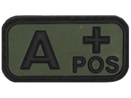 Označení krevní skupiny A+ positive 3D PVC oliv MFH