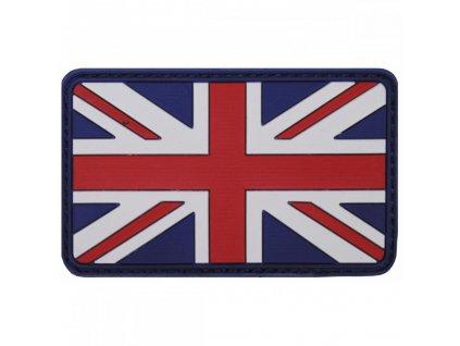 Nášivka vlajka Velká Británie Velcro 3D PVC 8x5cm barevná