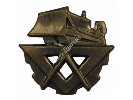 Odznak rozlišovací pro stavební vojsko (bronz) AČR