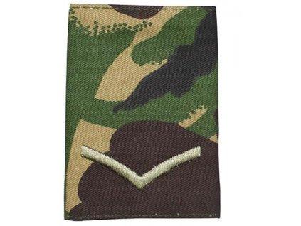 Hodnost výložka Velká Británie DPM Lance Corporal