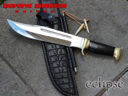 Legendární nůž The Outback Eclipse Bowie (Krokodýl Dundee) Linder  Down Under Knives 1095 Carbon 446228