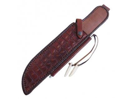 Kožené pouzdro s brouskem na nůž The Outback (Krokodýl Dundee) Linder Bowie Down Under 446128S
