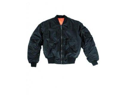 Bunda MA1 Miltec černá/oranžová - oboustranná