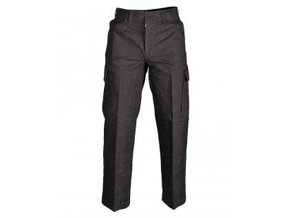 Kalhoty moleskin černé předeprané