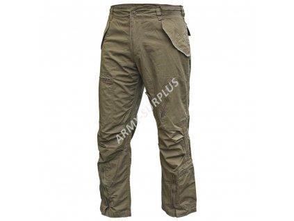 Kalhoty Pilot US oliv předeprané