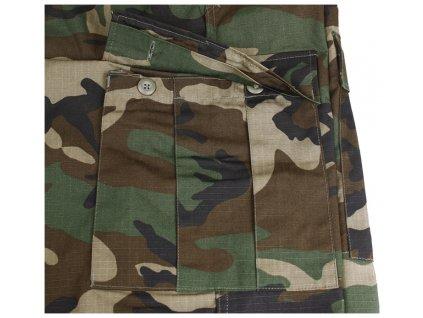 Kalhoty US BDU woodland ripstop Teesar