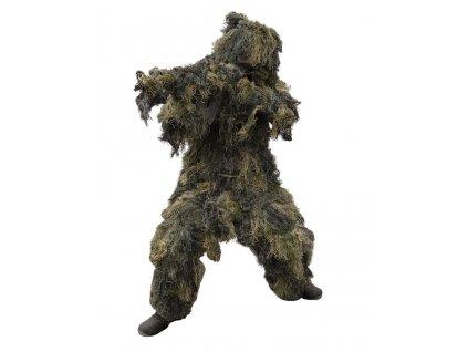 Maskovací oblek Hejkal (Ghillie Suit) woodland 4-dílný