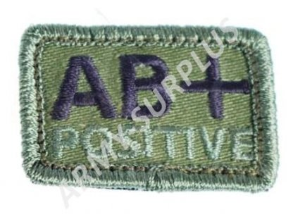Označení krevní skupiny AB+ POSITIVE - oliv