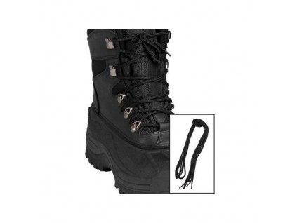 Tkaničky do bot černé kulaté 220cm