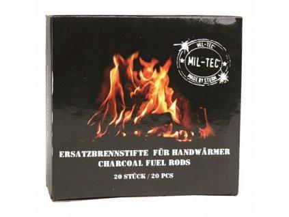 Náhradní uhlíky do kapesního ohřívače Miltec 20 ks