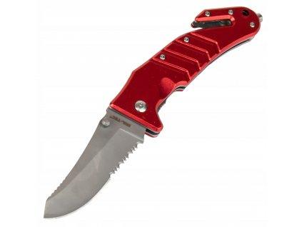 Nůž zavírací záchranářský červený Miltec