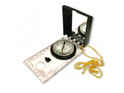 Kompas (buzola) mapovka + zrcátko