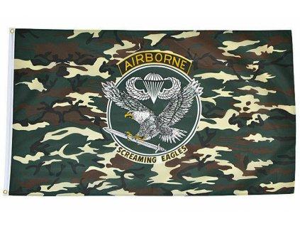 Vlajka US AIRBORNE 90x150cm č.73