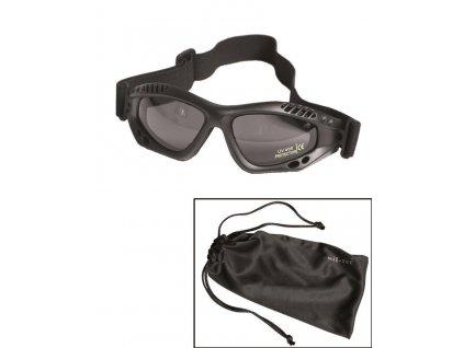 Brýle commando černé kouřové