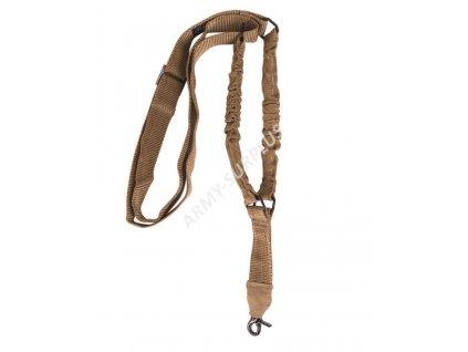 Popruh taktický zbraňový jednobodový coyote Bungee Miltec
