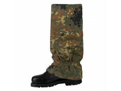 Holeňové návleky na ochranu nohou BW flecktarn originál Bundeswehr