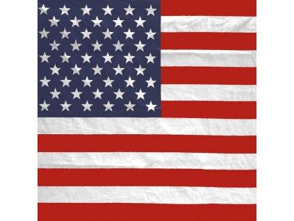 Šátek potisk USA čtvercový Miltec