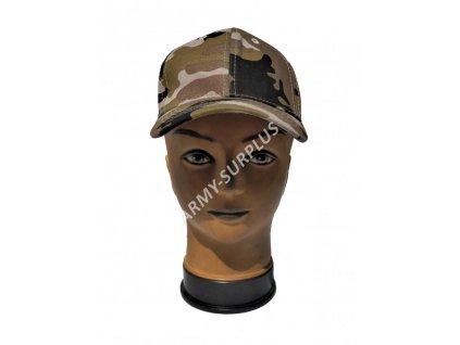Čepice kšiltovka dětská maskovací Camo Safari