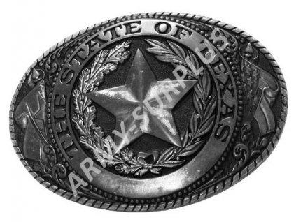 Přezka na opasek Western The State of Texas - starozinek  B0967