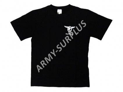 Tričko (triko) potisk Monte Cassino černé