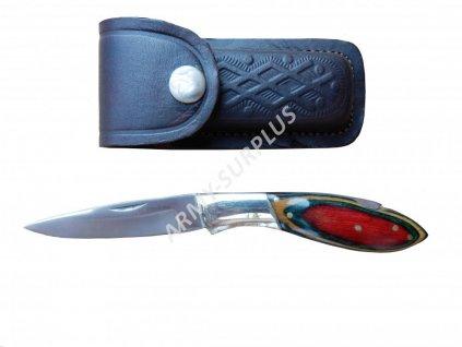 Nůž zavírací s koženým pouzdrem