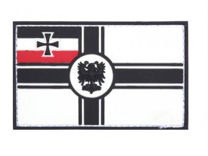 Nášivka vlajka Německo námořní 3D PVC suchý zip