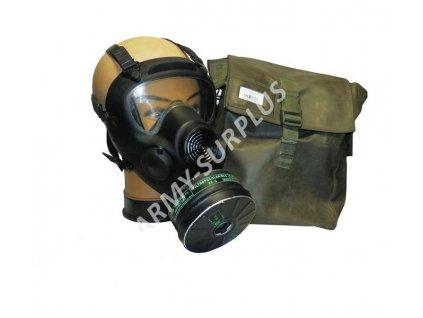 Plynová maska Polsko MP5 s filtrem a brašnou zánovní MT-213