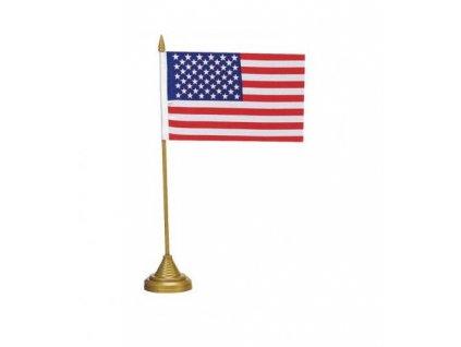 Praporek s podstavcem USA