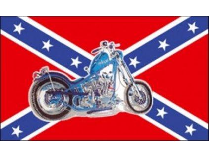vlajka-konfederace--jizanska--s-motorkou--chopper--90x150cm-c-79