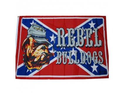 Vlajka Rebel Bulldog (buldok) 90x150cm č.197