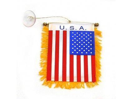 Vlajka USA mini 11,5 x 8cm s přísavkou na sklo