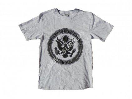 Triko US ARMY s potiskem United States Army šedé originál
