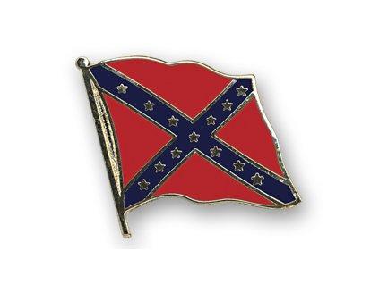 Odznak (pins)  20mm praporek Jižanský (konfederace)