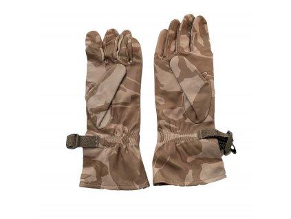 Rukavice britské kožené desert Combat gloves Velká Británie