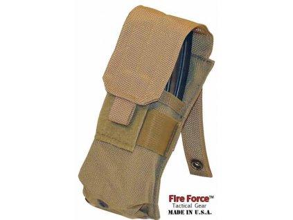 Sumka US molle na 2 zásobníky M4-M16 single Mag Pouch coyote Fire Force USMC originál