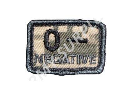 Označení krevní skupiny AT-Digital (ACU) 0- NEGATIVE