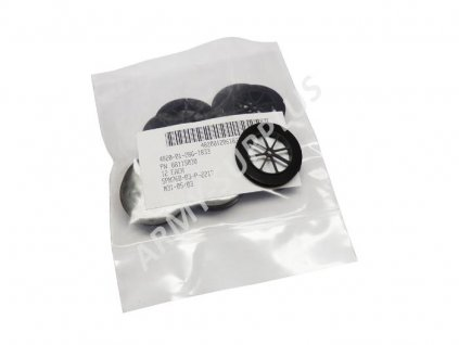 Sada 12ks kruhový ventil pro plynové masky US černý