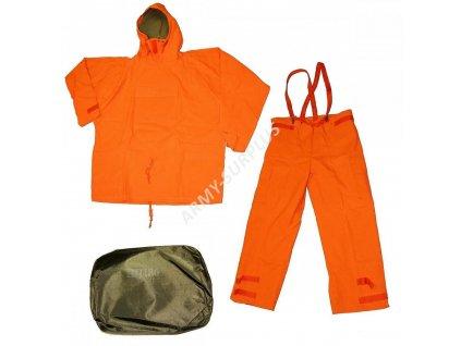 Protichemický filtrační oděv NBC (Atombordel) oranžový Německo