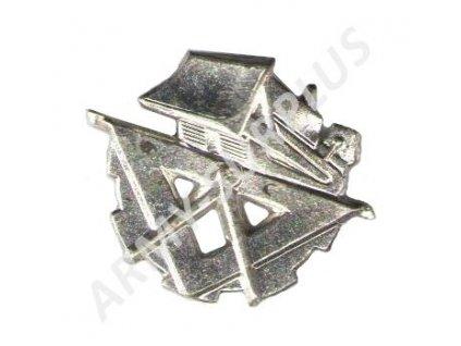 Odznak rozlišovací pro stavební vojsko stříbrný AČR