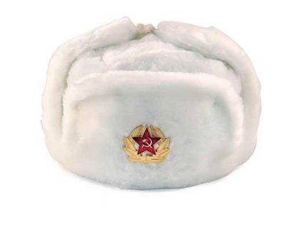 Beranice ruská ušanka originál bílá