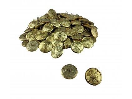 Knoflík AČR velký zlatý originál