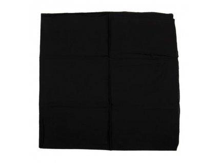 Šátek černý čtvercový velký Fosco 100 x 100cm