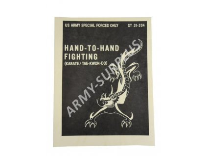 Instruktážní manuál příručka US ARMY Special Forces bojového umění Hand-to-hand Fighting
