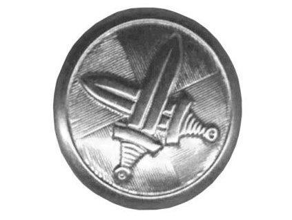Knoflík AČR velký stříbrný